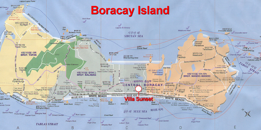 Zoom the map of Boracay